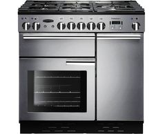 rangemaster plus 90cm gas range cooker with electric fan oven stainless