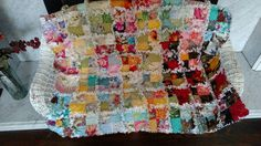 Rag Quilt Mini, Child Lap Rag Quilt,  Handmade Rag Quilt, Ready to Ship by BermudaStreetQuilts on Etsy