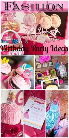 So many great ideas at this fashion dress-up girl birthday party! See more party ideas at CatchMyParty.com.
