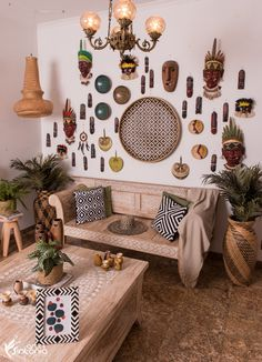 Funky Decor, Living Room Designs, Sweet Home, Gallery Wall, Home Decor, Zen Decorating, Interior Decorating Styles, Indigenous Art, Ethnic Style