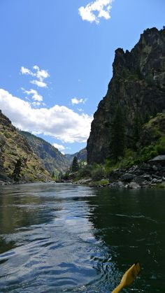 rafting down Salmon River, Idaho