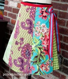 One Yard Fat Quarter Skirt | FaveQuilts.com