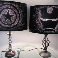 Marvel captain america lamp shade by geekyourinterest on etsy its finally time for captain america civil war which side will you be on aloadofball