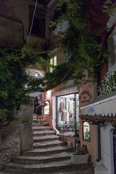 Positano Steps, Amalfi Coast, Italy.