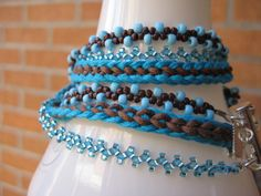 Multi Strand Bracelet in Blue and Brown by JVossDesigns on Etsy, $49.99
