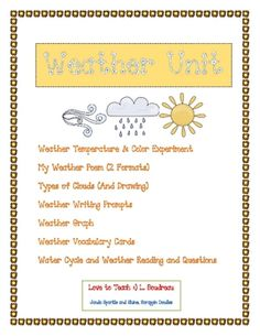 Weather Unit for Grade 2 or 3
