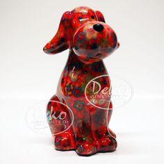 Pomme Pidou Hund (Schnauzer) TOBY rot Blumen