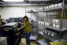 A CHM staff member works with nitrate negatives in temporary storage. Temporary Storage, Chicago History Museum, Monday Night, Preserve, Effort, Kicks, Alternative, Photograph, Collections