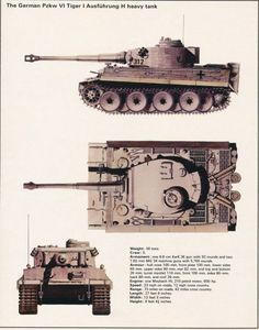 """""""GO CATCH ME A TIGER"""" – THE DANGEROUS MISSION TO CAPTURE A GERMAN TANK see: http://wp.me/p2Qfae-Ob The German PzKw VI Tiger I. From the Library of Forces War Records."""
