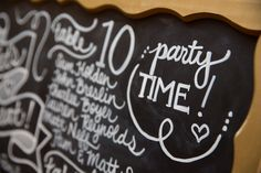 #party!  #chalkboard #livehappystudio #weddingdetails
