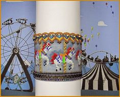 """Beads Beading Beaded, with Erin Simonetti: """"Carousel Cuff Go Round"""", Published Pattern!"""