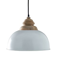 Simple and rustic, we love the farmhouse aesthetic of this Rumford Pendant in White. A fantastic way to light up a kitchen island or guest bath, this pendant boasts a round metal shade finished in glea...  Find the Rumford Pendant in White, as seen in the The Floating Farmhouse Collection at http://dotandbo.com/collections/the-floating-farmhouse?utm_source=pinterest&utm_medium=organic&db_sku=102516