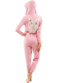 Designer Desirables Sequined Silver Owl Pink Soft Fine Knit Onesie #prettypastels
