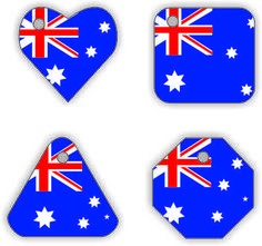 Australia Swap Tags from MakingFriends.com. Pick any country! #WorldThinkingDay, #ThinkingDay, #swaps, #Australia Girl Scout Swap, Girl Scouts, Cadette Badges, Brownie Scouts, World Thinking Day, Kings Day, Australia Day, Girl Guides, Scouting