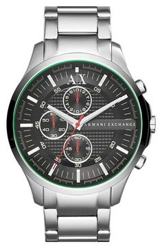 AX Armani Exchange Chronograph Bracelet Watch, 46mm available at #Nordstrom