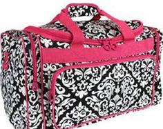 9b0994061b Monogram duffel bag. Travel LuggageTravel BagsDuffel BagWeekenderGym BagShoulder  StrapDamaskCheer BagsHot Pink