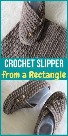 Easy Crochet Slippers, Knit Slippers Free Pattern, Crochet Slipper Pattern, Crochet Boots, Knitted Slippers, Slipper Socks, Knit Crochet, Crochet Patterns, Crochet Granny