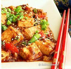 Thai style stir fried tofu with basil