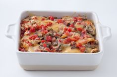 Beef Enchilada Bake - replace Velveeta with shredded cheese and/or queso fresco?