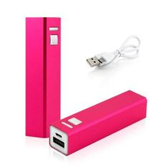 2600mAh Portable Mobile USB Power Bank External Battery Charger for Cell Phone backup - Hot Pink - Walmart.com