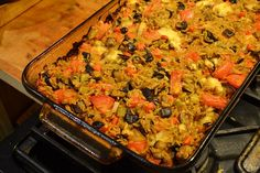 Baked Orzo with Vegetables! Wow was this good!