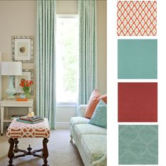 OLD WORLD CHARM: Coastal Cottage Colors: Turquoise and Coral