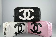 Chanel Makeup bags!! Super cute! Want them all!