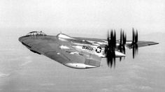 Northrop XB-35, an experimental flying wing heavy bomber developed for the United States Army Air Forces during and shortly after World War II.
