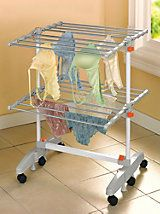Laundry Drying Rack -Wheeled Drying Rack - Folding Clothes Drying Rack | Solutions