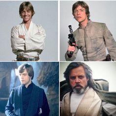 Luke Skywalker 1977 - 1980 - 1983 - 2015  I Will Always Love You Luke!