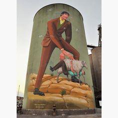 Aec going big in Sicily - Discover more Street Art at www.UrbanArtNow.com - #StreetArt #UrbanArt #Graffiti #Mural