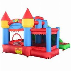 [ $24 OFF ] Yard Inflatable Bouncy Castle Combo Slide Ball Pit Home Use Bouncers Kids Fun Park Special Offer For European Countries