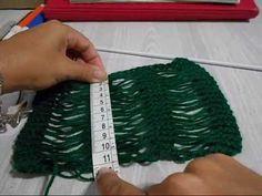 Hilda Eroles - vídeo 21 - ponto solto na horizontal em tricô