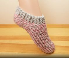 How To Crochet Slipper Socks