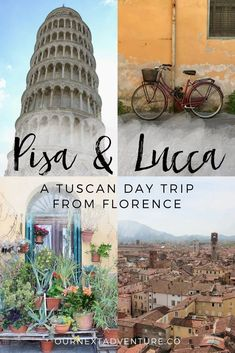 Pisa & Lucca: experience the touristy and the local while combining these two Tuscan cities into one Florence day trip Pisa Italy, Tuscany Italy, Florence Tuscany, Italy Italy, Cinque Terre, Italy Rail, Italy Travel Tips, Voyage Europe, Italy Vacation