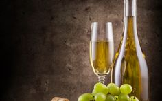 Download wallpapers White wine, grapes, wine cellar, white grapes, fruit
