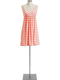 peach striped summer dress
