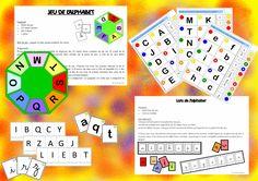 Des jeux inventés par Cynthia que j'ai complétés sous la tutelle de l'enseignant ou de l'ATSEM, des logicos (donc auto-correctifs) et des fiches pour les Boîtes A Compter (BAC) de chez Nathan en...