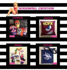 Artiste d'Everyday (participante du mois entier): SeasonFall Création, feutrine et calavera
