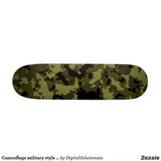 Camouflage military style pattern skateboard