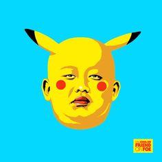 """""""Friend Or Foe é um novo projeto do ilustrador brasileiro Butcher Billy que sequestra o retrato do líder norte-coreano Kim Jong-Un, em uma série distorcida, inspirada pelos maiores e mais famosos heróis e vilões da Cultura Pop."""""""