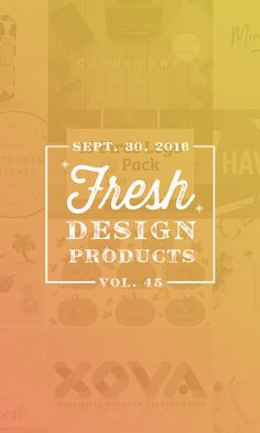 On the Creative Market Blog - This Week's Fresh Design Products: Vol. 45