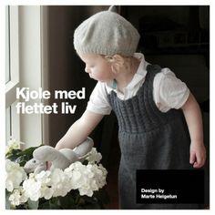 Ravelry: Kjole med flettet liv - Dress with cables pattern by Marte Helgetun Knitting For Kids, Baby Knitting, Knitted Baby, Knitting Designs, Knitting Patterns, Cute Dresses, Flower Girl Dresses, Knit Crochet, Crochet Hats