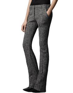 Elena Mid Rise Boot-Cut Wool Trousers, $239.00