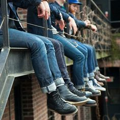 """A bunch of us denim dudes just hanging out at @niftydo last weekend. I've always envisioned taking an…"""""""