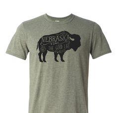 Nebraska T-shirt - Nebraska the Good Life Since 1867 Rustic Buffalo Bison t-shirt by SuzySwedeCreative on Etsy https://www.etsy.com/listing/228312210/nebraska-t-shirt-nebraska-the-good-life