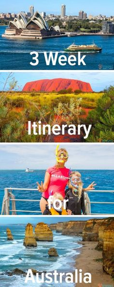 3 week itinerary for Australia. How to visit the highlights of Sydney, Cairns, Barrier Reef, Uluru, Melbourne and Great Ocean ROad