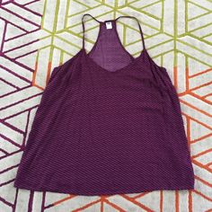 Old Navy Tank! Super cute purple tank from old navy! Worn twice, fantastic condition. Can wear this with everything! Nonsmoking home. I have a cat but keep him away from my closet. Make an offer! Old Navy Tops Camisoles