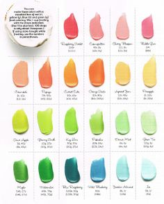 Pops and Podge: Adventures in Frosting...-- How to make all these colors with a box of food coloring drops!