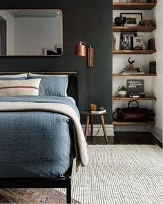 dark walled bedroom
